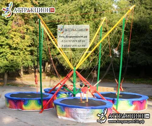 Аттракцион Батут ТАРЗАНКА 4местный 6метров (Аттракцион36.рф)